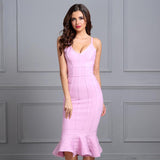 V-Neck Knee Length Celebrity Evening Party Dresses