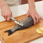 Cleaning Fish Skin Stainless Steel Fish  Tools
