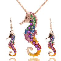 Hippocampus Necklace Earring Set