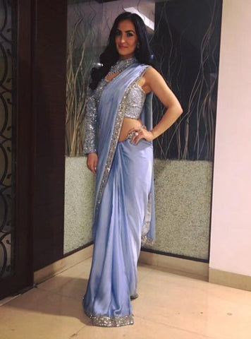 Image of Actress Elli Avram in our Serenity Saree at the Filmfare Glamour & Style Awards