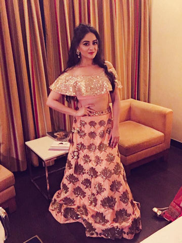 Image of Mahhivij wearing Yoshita's Sangeet Outfit of the season