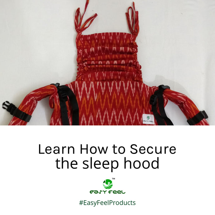 Securing Sleep Hood in a Back Carry