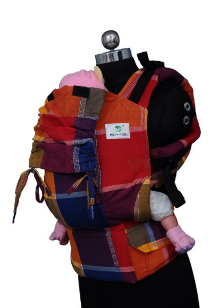Easy Feel Full Buckle Ergonomic Soft Structured Carrier (Standard Size) - Berry Mix