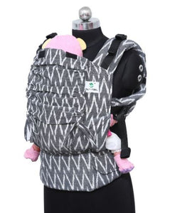 Standard Wrap Converted Soft Structured Carrier - Charcoal Chevrons