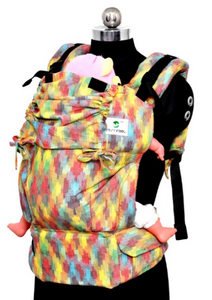 Toddler Wrap Converted Soft Structured Carrier - Cotton Candy Dance