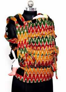 Easy Feel Full Buckle Ergonomic Wrap Converted Soft Structured Carrier (Standard Size) - Ethnic Binge