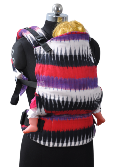 Easy Feel Full Buckle Ergonomic Wrap Converted Soft Structured Carrier (Standard Size) - Berry Currant