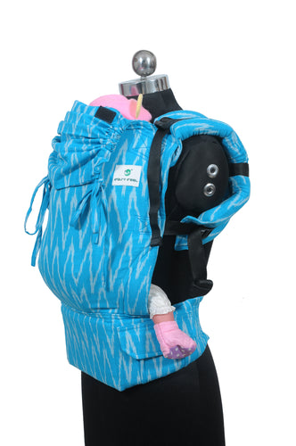 Standard Wrap Converted Soft Structured Carrier - Lagoon