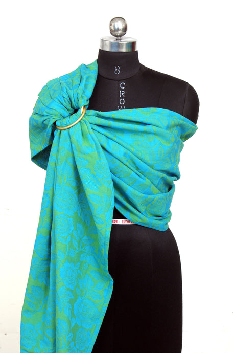 Easy Feel 100% Cotton Single Layered Ring Sling (Real Teal)
