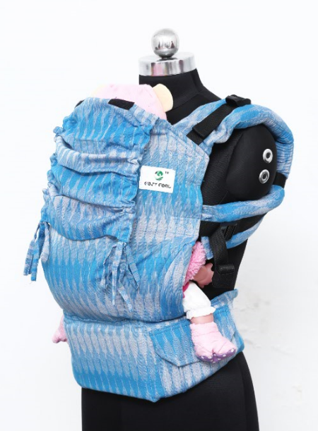 Easy Feel Full Buckle Ergonomic Wrap Converted Soft Structured Carrier (Standard Size) - Seashore