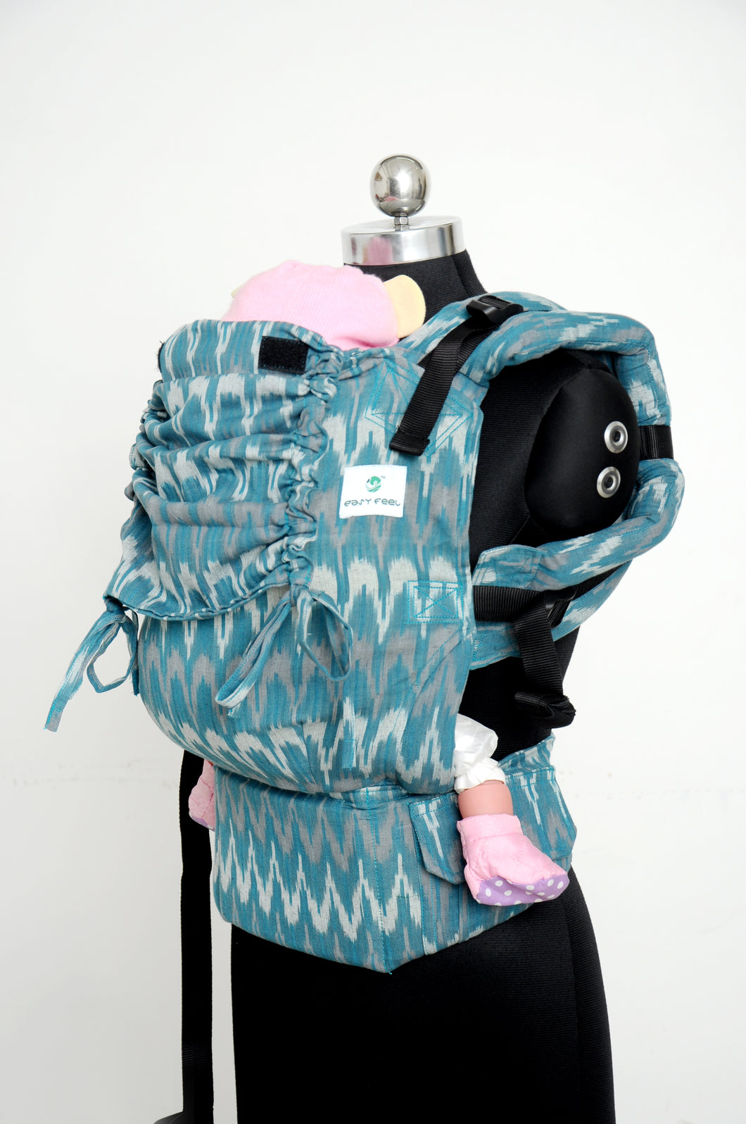 Easy Feel Full Buckle Ergonomic Wrap Converted Soft Structured Carrier (Preschool Size) - Teal