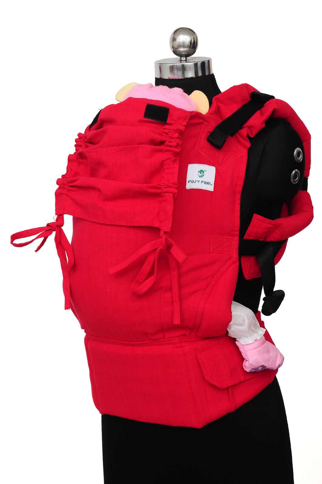Easy Feel Full Buckle Ergonomic Soft Structured Carrier (Preschool Size) - Vermilion