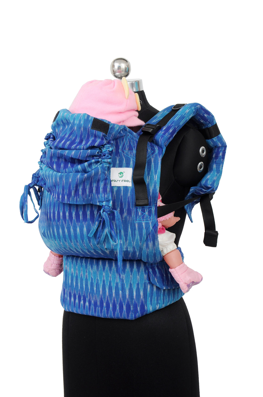 Toddler Wrap Converted Soft Structured Carrier - Azure Heaven