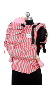 Easy Feel Full Buckle Ergonomic Wrap Converted Soft Structured Carrier (Standard Size) - Coral