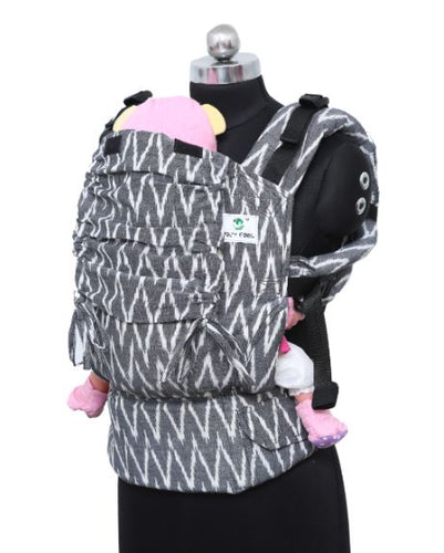 Preschool Wrap Converted Soft Structured Carrier - Charcoal Chevrons