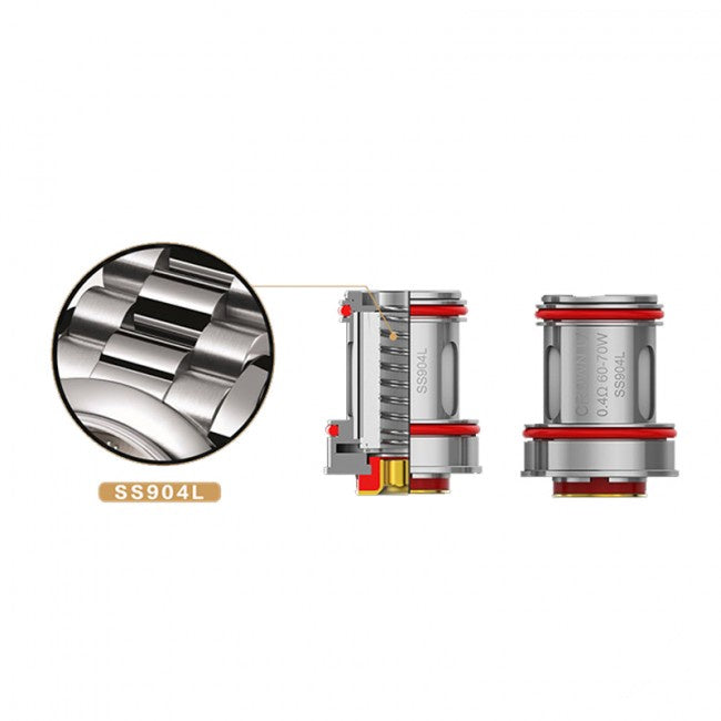 Uwell Crown 4 IVReplacement Coils • 4 Pack