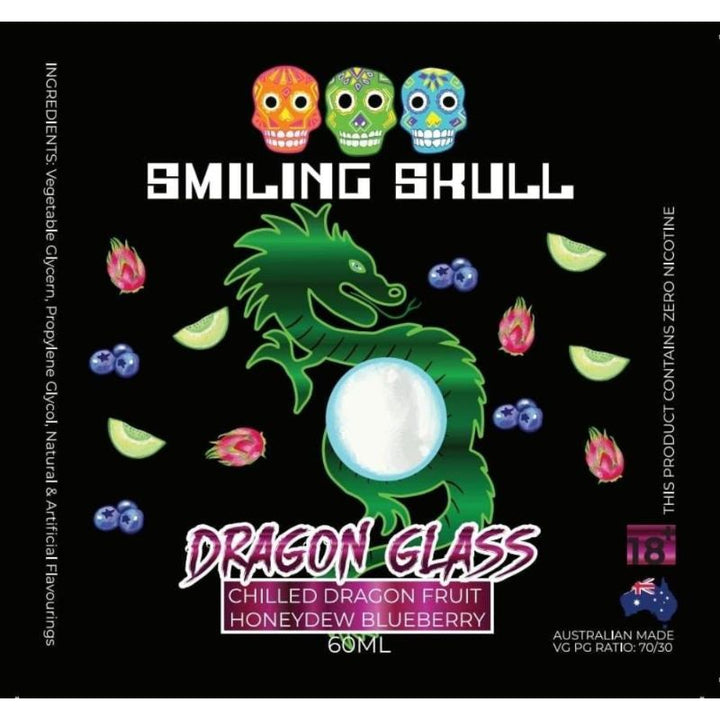 Smiling Skull- Dragon Glass