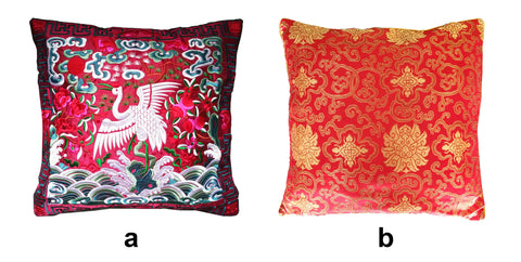 Red Oriental Pillow