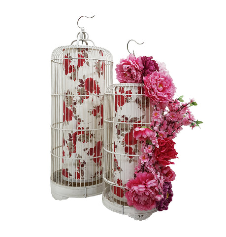 Chinese Bird Cage with Artificial Flower