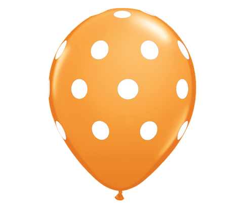 "Orange Polka Dots 12"" Balloon"