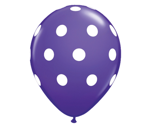 "Purple Polka Dots 12"" Balloon"