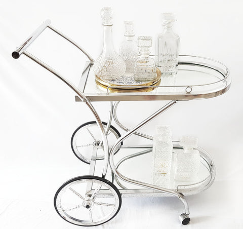 Silver Trolley Cart
