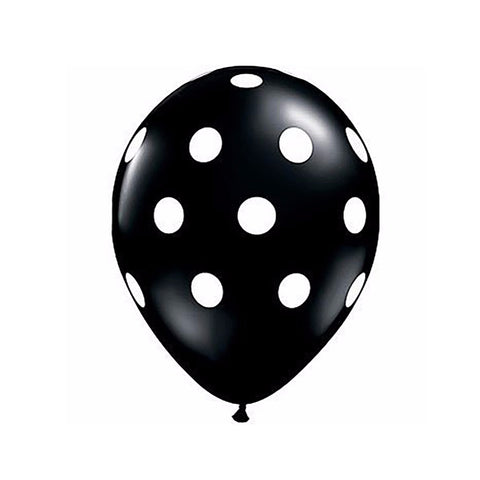 "Black Polka Dots 12"" Balloon"