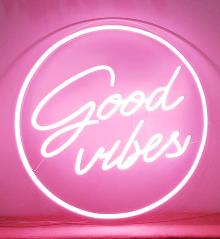 """Good vibes"" Neon Light"