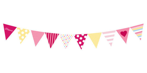 Pink Checker Box Party Flag
