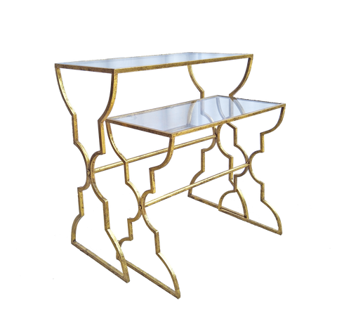 Gold Frame Side Table