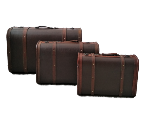 Brown Suitcase Set