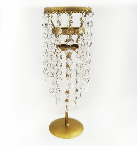 Gold Crystal Candle Stand
