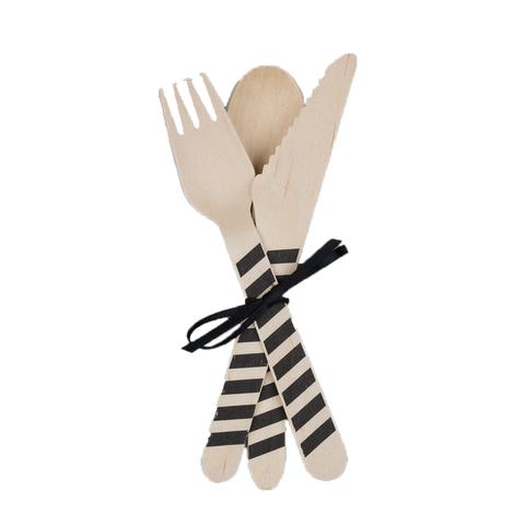Black Spoon Wooden Cutlery