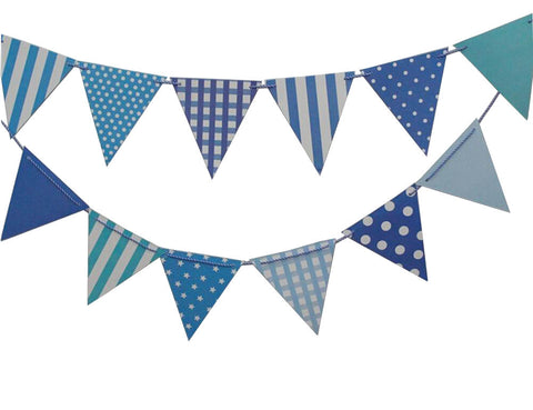 Blue Checker Box Party Flag