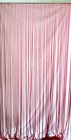 Red Beaded Curtain