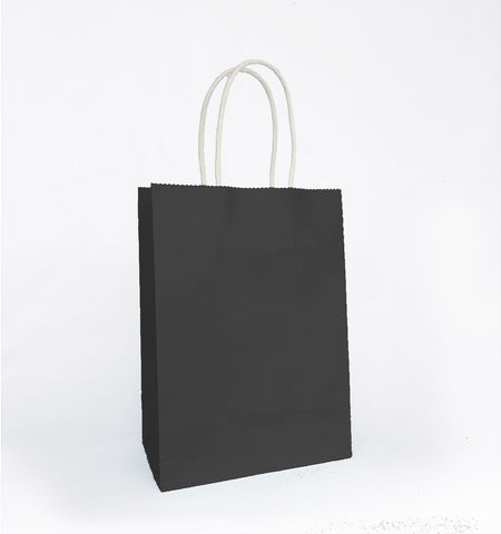 Plain Black Paper Bag