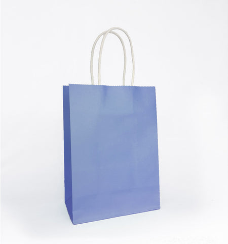 Plain Blue Paper Bag
