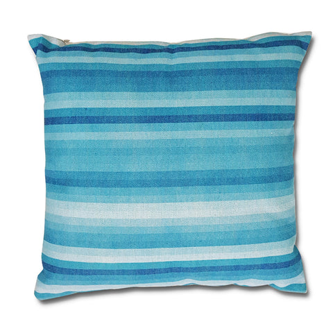 Blue Line Canvas Pillow
