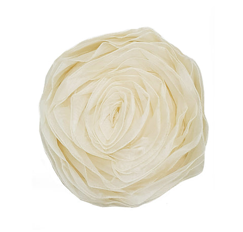 Champagne Gold Rosette Pillow