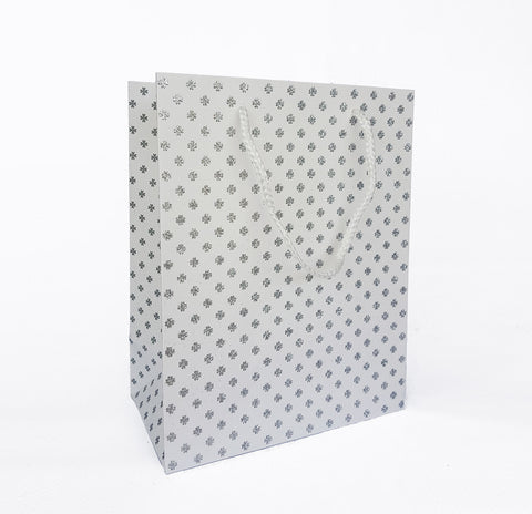Silver Clover Paper Bag
