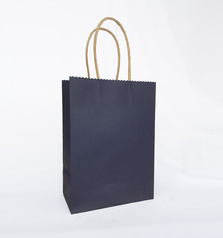 Plain Dark Blue Paper Bag