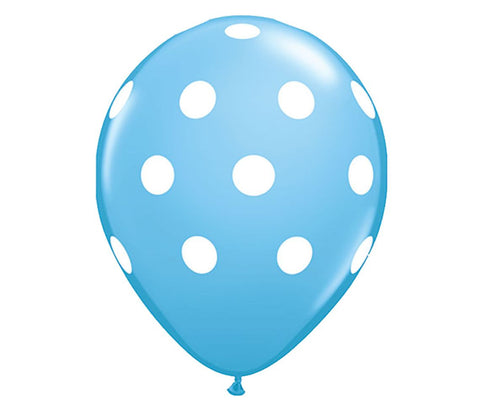 "Light Blue Polka Dots 12"" Balloon"