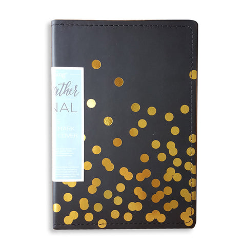 Black/Gold Dots Journal
