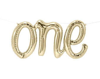 "Northstar Gold ""One"" 30"" Foil Balloon"