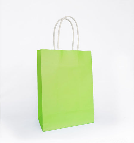 Plain Lime Green Paper Bag