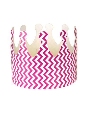 Fuchsia Chevron Party Crown