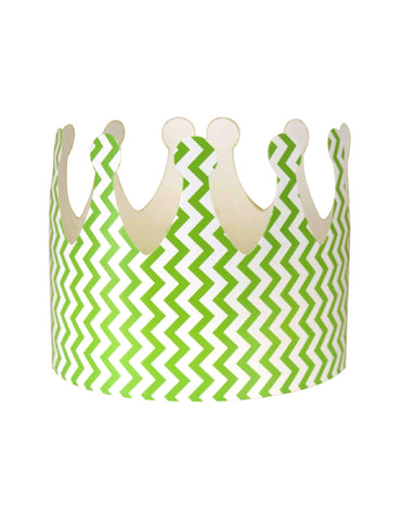 Green Chevron Party Crown