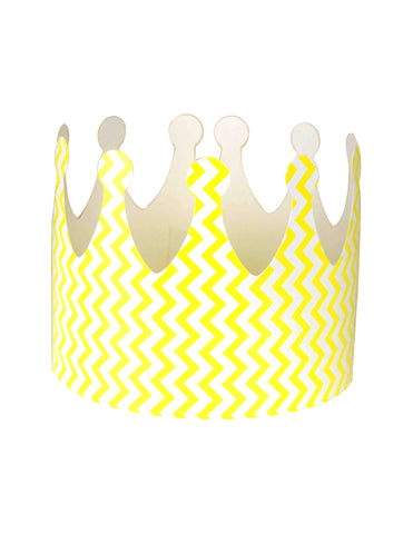 Yellow Chevron Party Crown