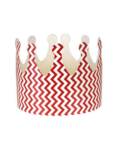 Red Chevron Party Crown