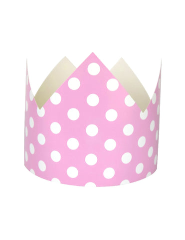 Pink Polka Dots Party Crown